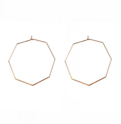 Septagon (Rose Gold) Earrings - Jewellery - Big Metal London - TAILOR & FORGE