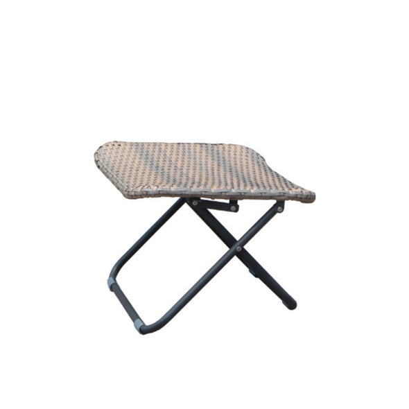 faux rattan footstool is a great addition with both garden lounge & bistro set at Tailor & Forge