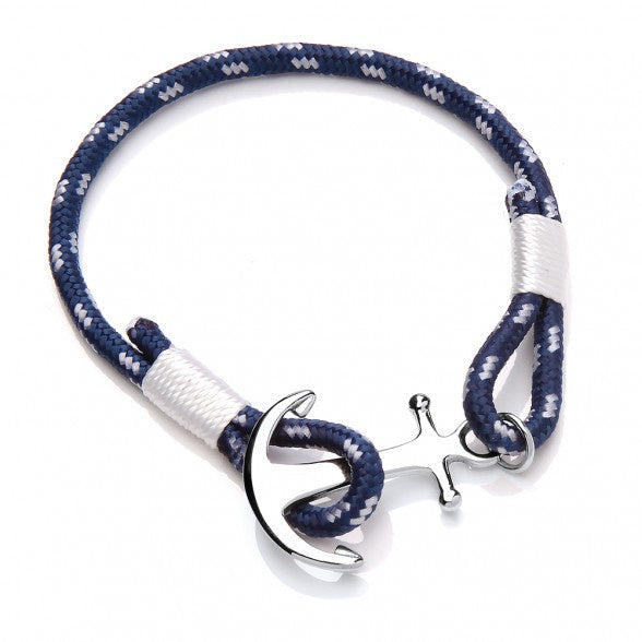 Anchor Clasp - Navy & White - Jewellery - Estella Bartlett - TAILOR & FORGE