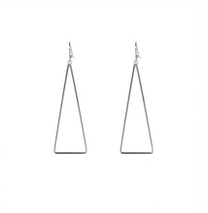 Triangle Drop (Silver) Earrings