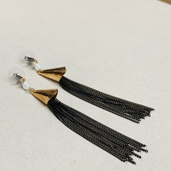 Metal Tassel Cone Earrings - Jewellery - Peng succulents - TAILOR & FORGE