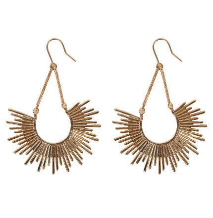 Half Burst Earrings - Gold