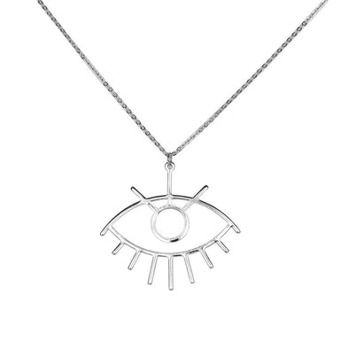 Gazing Eyes Necklace - Silver