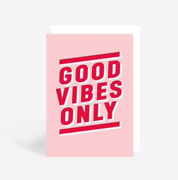 Good Vibes Only Card - Cards - Sadler Jones - TAILOR & FORGE