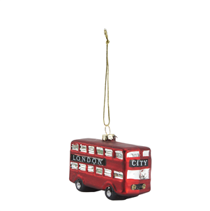 london bus  glass  christmas decoration  christmas  bauble Tailor & Forge