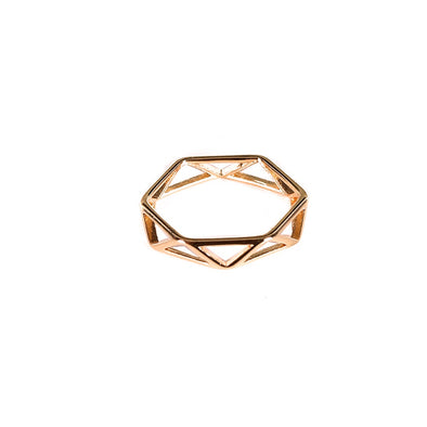 Geometrical Caged Ring - Jewellery - Big Metal London - TAILOR & FORGE