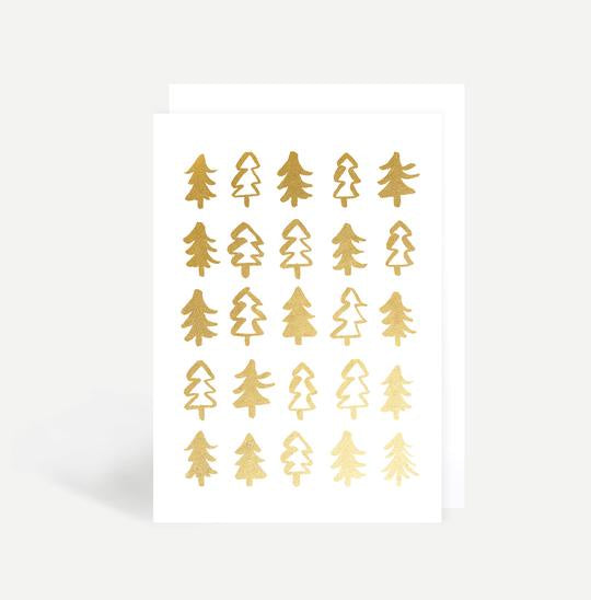 Gold Christmas Trees Card - Cards - Sadler Jones - TAILOR & FORGE