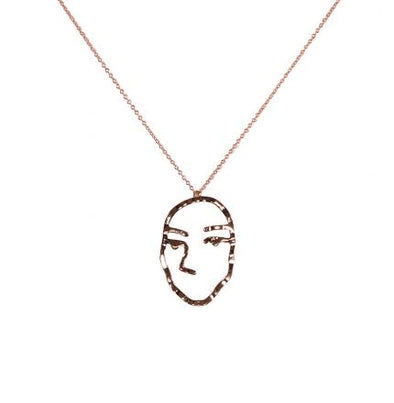Face Brass Pendant - Jewellery - Big Metal London - TAILOR & FORGE