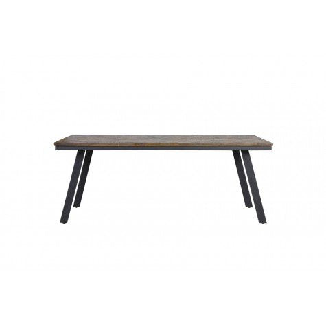 Natural Wood & Grey Dining Table - Medium