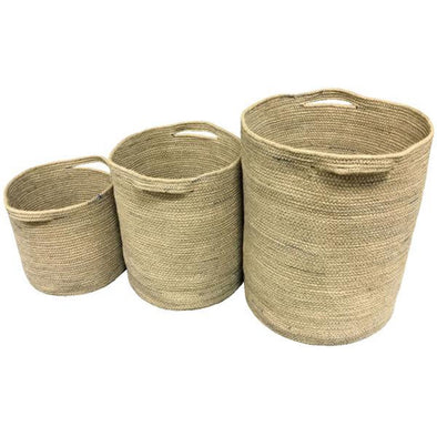 Jute Basket with Handles - Storage - Home Interiors - TAILOR & FORGE