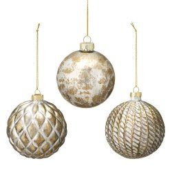Silver/gold Christmas Bauble