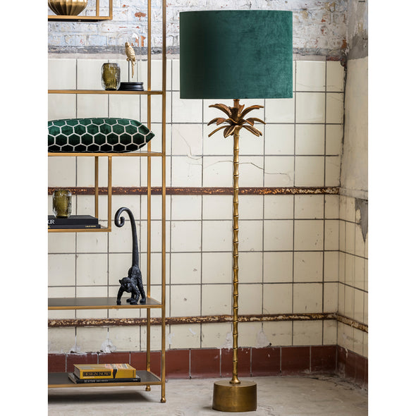 Antique Bronze Palm Floorlamp with Dutch Green Shade - Lighting - Light & Living - TAILOR & FORGE