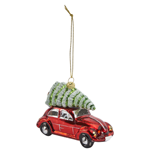 Beetle Car with Christmas Tree