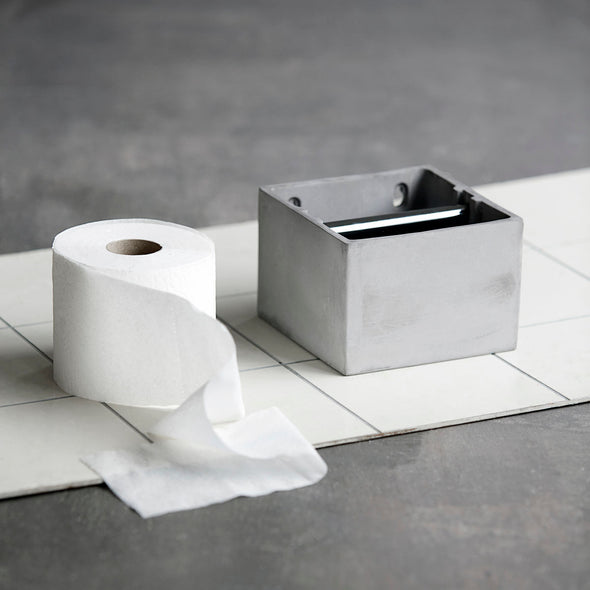 Cement Toilet Roll Holder - Concrete Bathroom Accessories - Cement Bathroom Accessories - Bathroom Accessories - Tailor & Forge