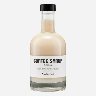 Coffee Syrup - Vanilla - Nicolas Vahé - hot drinks - home kitchen - home cooking - gourmet food - gifts for him - coffee syrup - christmas gifts for chef - christmas gifts - Food - Tailor & Forge