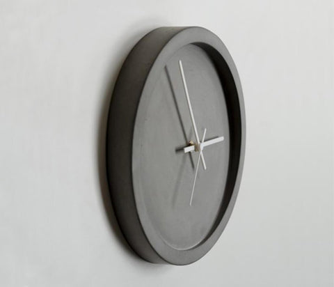 Concrete Wall Clock - Wild & Wood - White - Decor - Sue Pryke - TAILOR & FORGE
