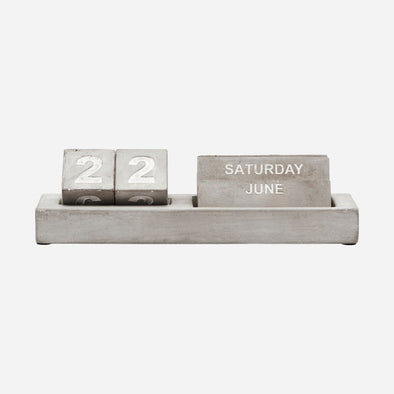 Concrete Desk Calendar - working from home - home office - gifts for him - gifts for her - gifts - Diary - desk accessories - desk calendar - Tailor & Forge