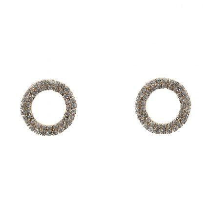Diamante Stud Earrings - Jewellery - Big Metal London - TAILOR & FORGE
