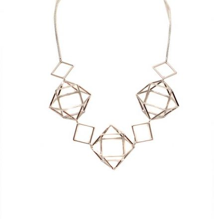 Geometrical Caged Necklace - Jewellery - Big Metal London - TAILOR & FORGE