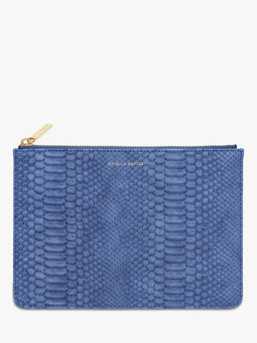 Medium Pouch - Navy Snake - Bags - Estella Bartlett - TAILOR & FORGE