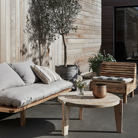 Natural Mango Wood Outdoor Lounge Chair - Furniture - Society of Lifestyle - TAILOR & FORGE