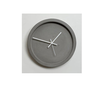 Concrete Wall Clock - Wild & Wood - White - Clocks - Sue Pryke - TAILOR & FORGE