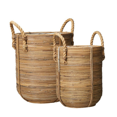 Rattan Basket - storage - rattan basket - rattan - planters-  natural rattan - baskets - basket - Tailor & Forge