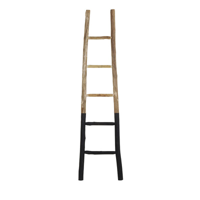 Rustic Ladder - Natural Wood & Black - Towel Ladder - Clothes Ladder - Decorative Ladder - Natural Wood - Decor - Tailor & Forge