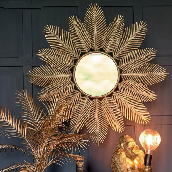 striking golden leaves mirror from Tailor & Forge