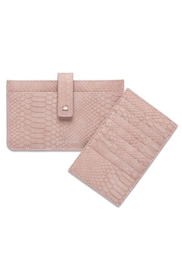 Travel Document Wallet - Blush Snake - Bags - Estella Bartlett - TAILOR & FORGE
