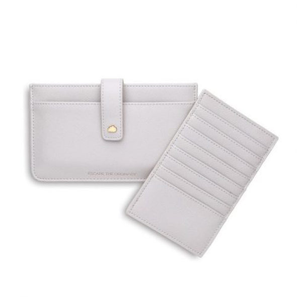 Travel Document Wallet - Grey - Bags - Estella Bartlett - TAILOR & FORGE