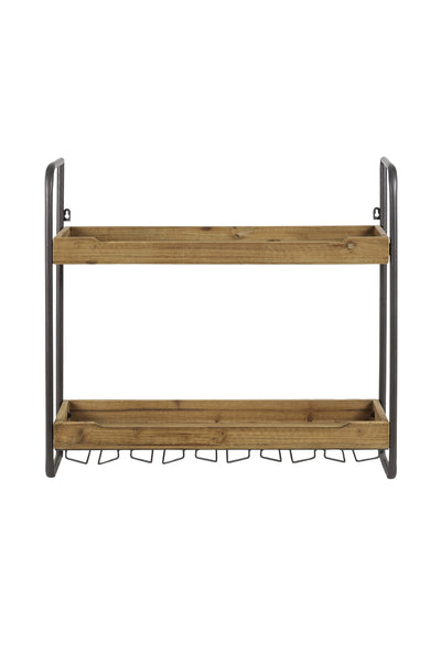 Natural Wood Wine Rack - Wine Rack - Wall Shelf - Kitchen Shelf - Kitchen Storage - Shelves - Tailor & Forge