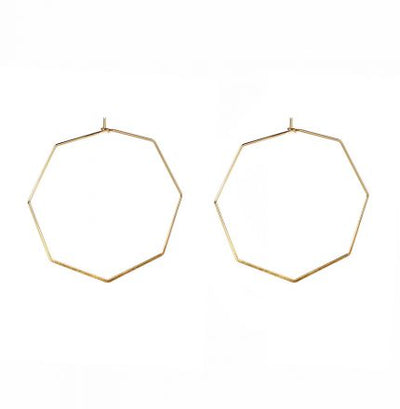 Septagon (Gold) Earrings - Jewellery - Big Metal London - TAILOR & FORGE