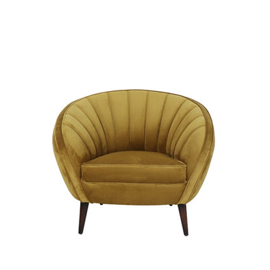 Mustard Yellow Velvet Chair - Furniture - Light & Living - TAILOR & FORGE