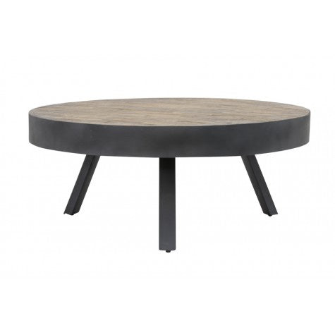 Antique Grey & Natural Wood Coffee Table - Furniture - Light & Living - TAILOR & FORGE