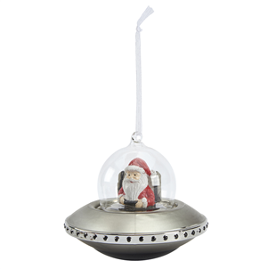 UFO  glass  christmas decoration  christmas  bauble Tailor & Forge