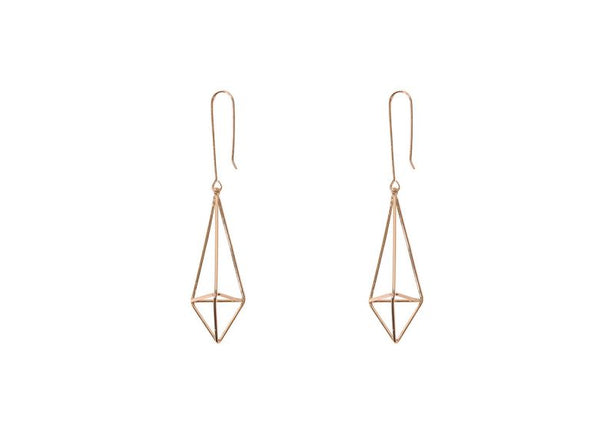 Geometrical Shape (Gold) Earrings - Jewellery - Big Metal London - TAILOR & FORGE