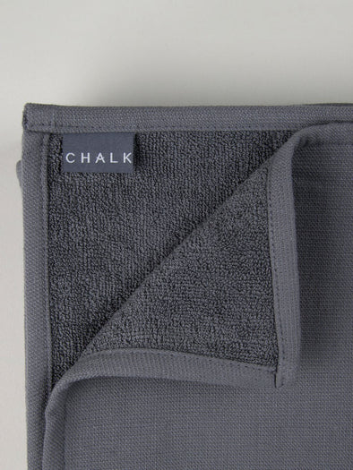 Small Hand Towel - Charcoal - Bath & Body - Chalk UK - TAILOR & FORGE