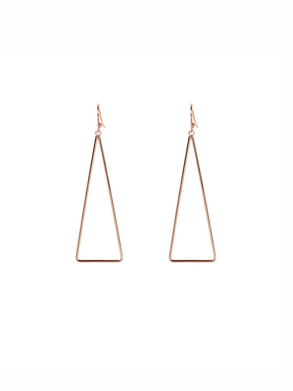 Triangle Drop (Rose) Earrings - Jewellery - Big Metal London - TAILOR & FORGE