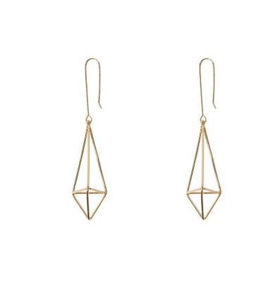 Geometrical Shape (Rose) Earrings - Jewellery - Big Metal London - TAILOR & FORGE