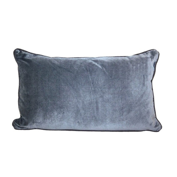 Grey Velvet Breakfast Cushion - Cushions - Morgan & Wright - TAILOR & FORGE