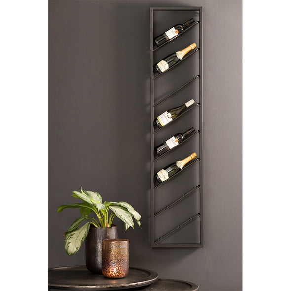 Wine Rack - Black Metal - Wall Mounted Wine Rack - Wine Racks - Wine Holders - Decor - Kitchen Accessories - Dining Room Accessories - Furniture - Tailor & Forge