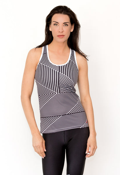 Black & White Geometric Tank - KANDASY CLOTHING