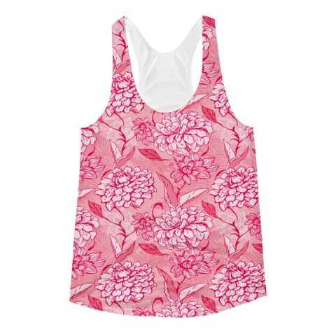 Pink Flower Tank - KANDASY CLOTHING