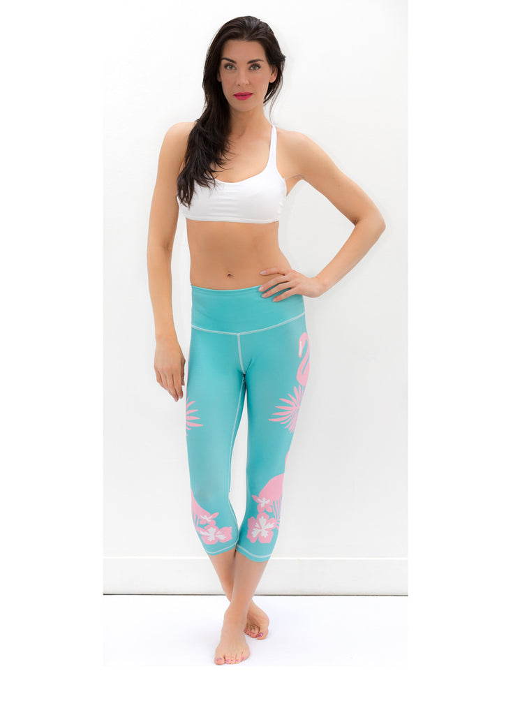 Cape Town Flamingo Capris - KANDASY CLOTHING