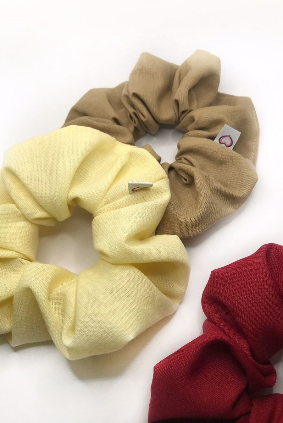 Scrunchies de Lino - Set de 3