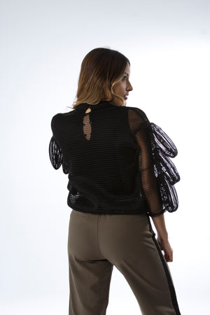 Dress Code - Mesh Top Cruzado Tentatech