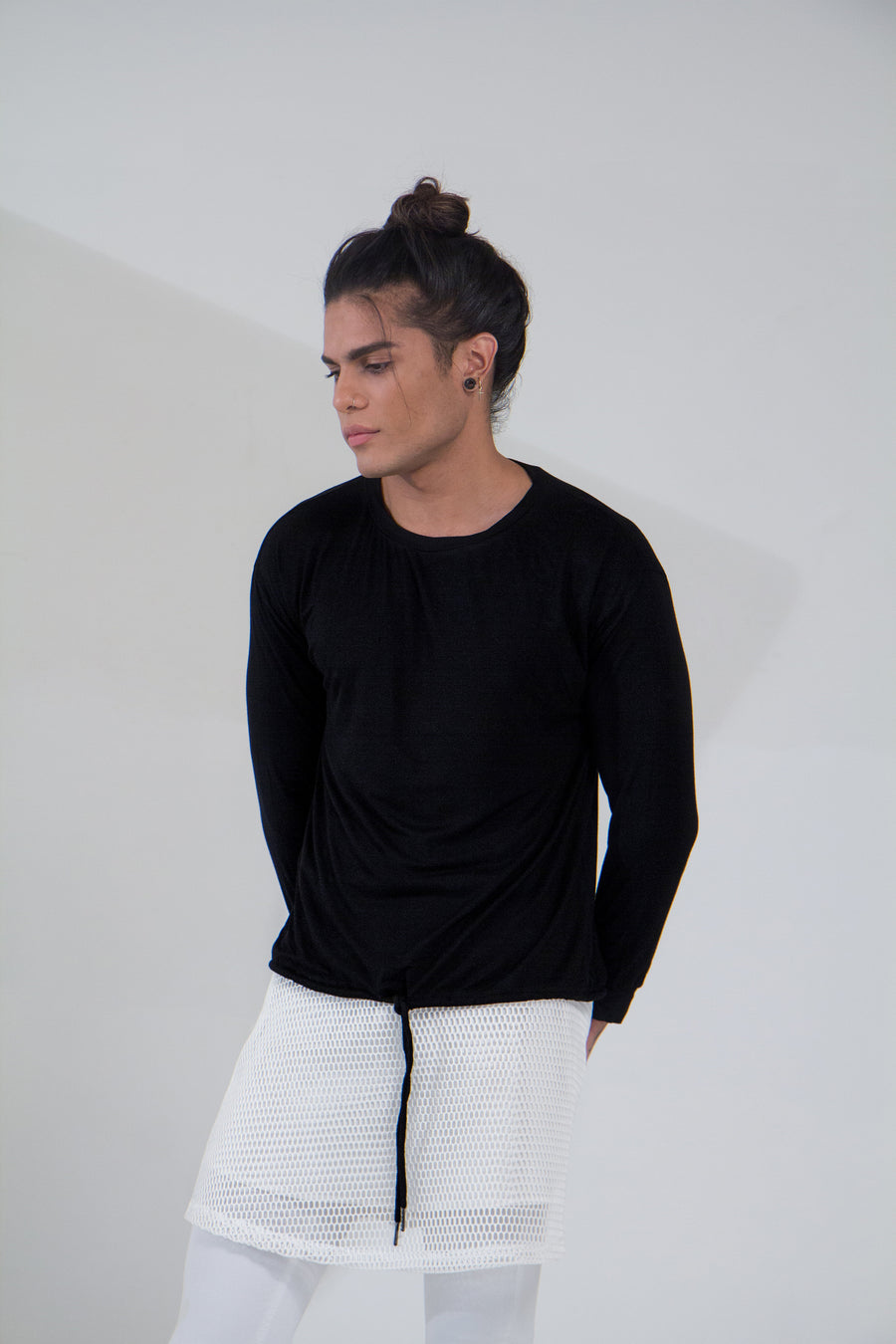 Casual Top Negro