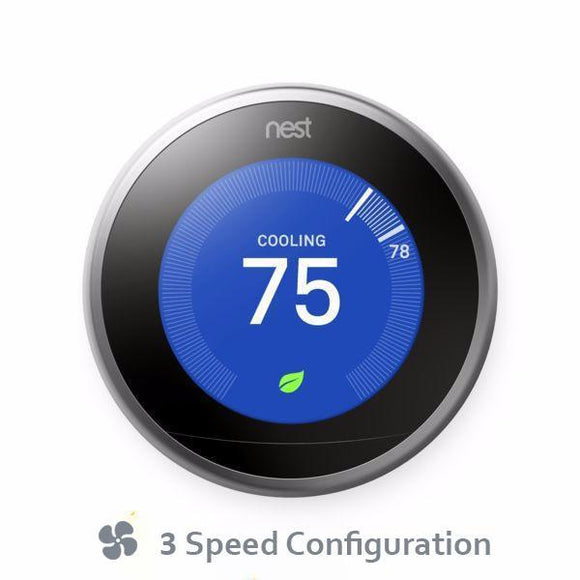 BYOD Nest Pro Smart Thermostat  Professional Installation + 3 Fan Speeds Included (T3)