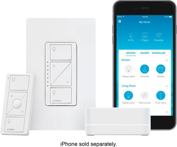 Smart Lighting Dimmer Switch Starter Kit + installation